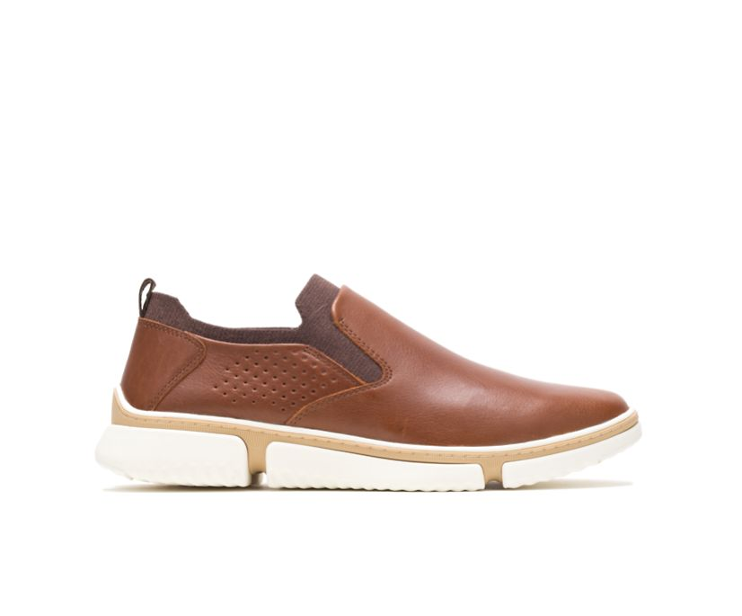 Bennet Plain Toe Slip-On, Cognac Leather, dynamic