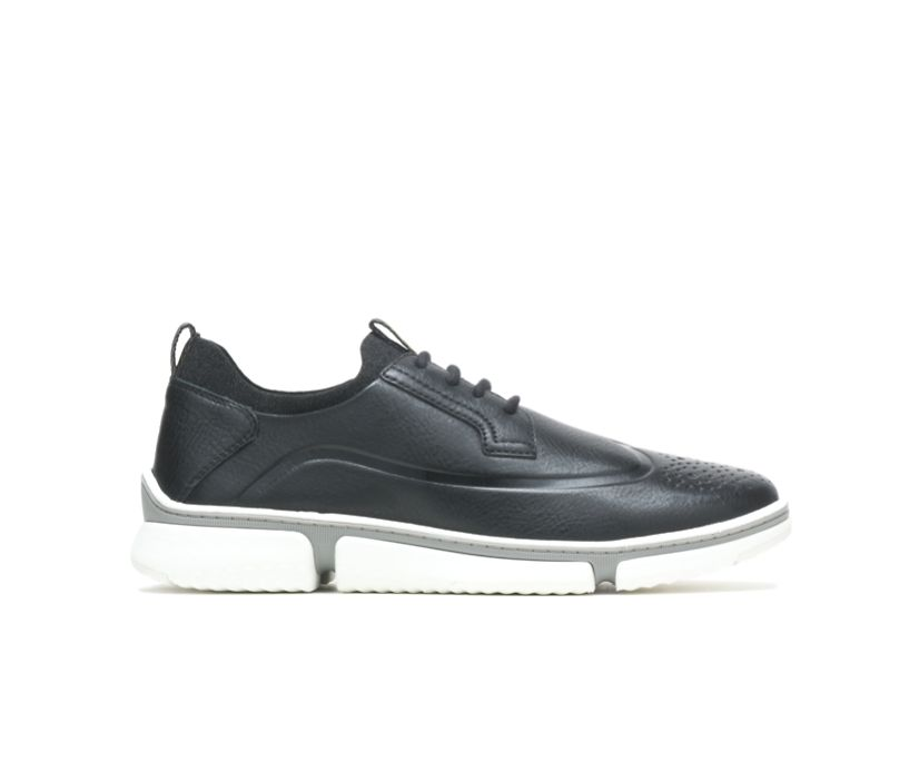 Bennet Wingtip Oxford, Black Leather/White Outsole, dynamic