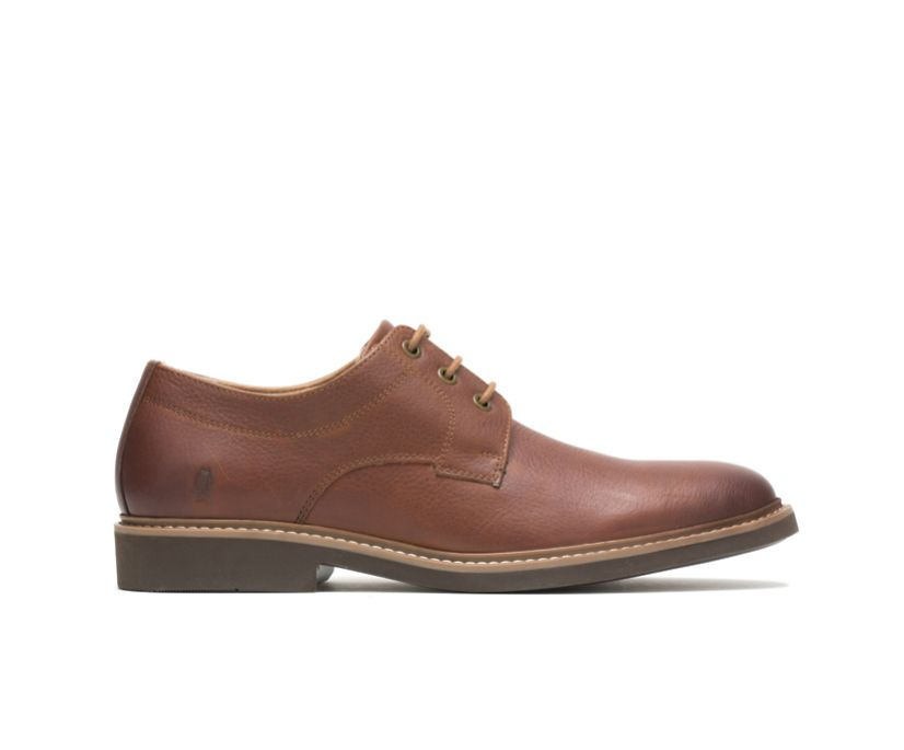 Detroit Plain Toe Oxford, Cognac Leather, dynamic