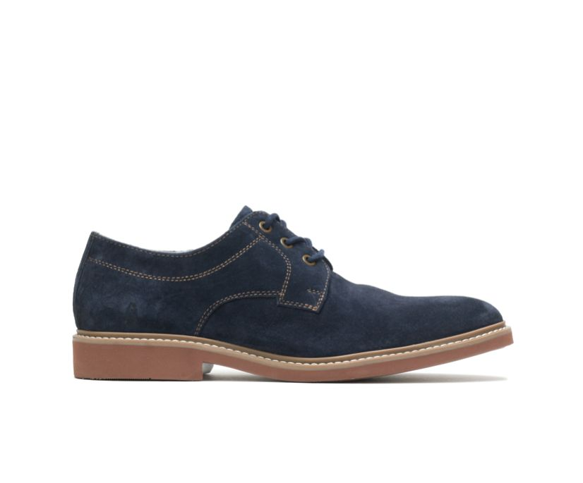 Detroit Plain Toe Oxford, Navy Suede, dynamic