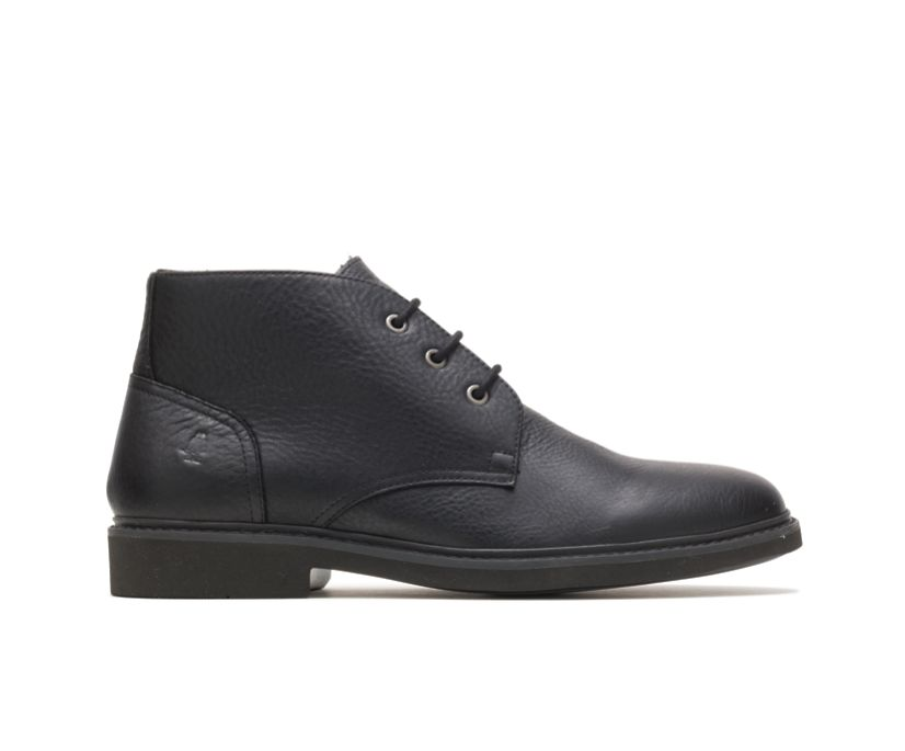 Detroit Chukka, Black Leather, dynamic