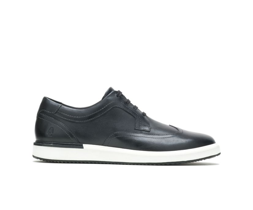 Heath Wingtip Oxford, Black Leather, dynamic