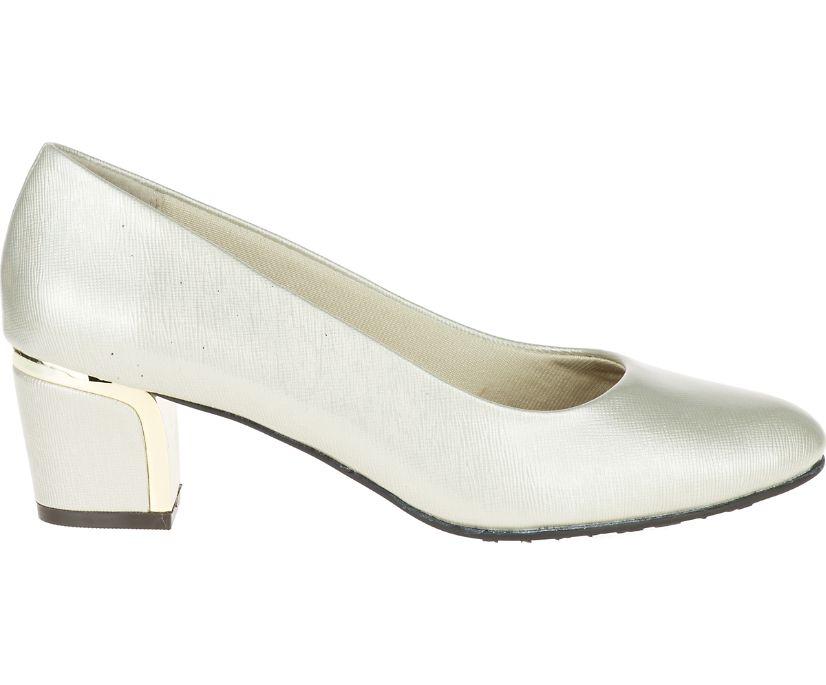 Deanna, Bone Cross Hatch Patent/Gold Heel, dynamic