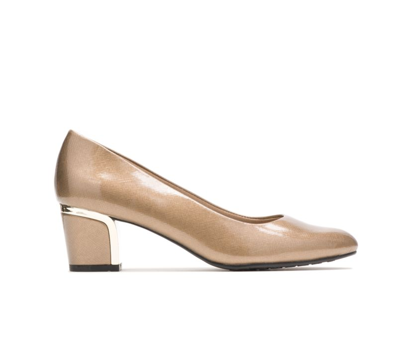 Deanna, Gold Cross Hatch Patent/Gold Heel, dynamic