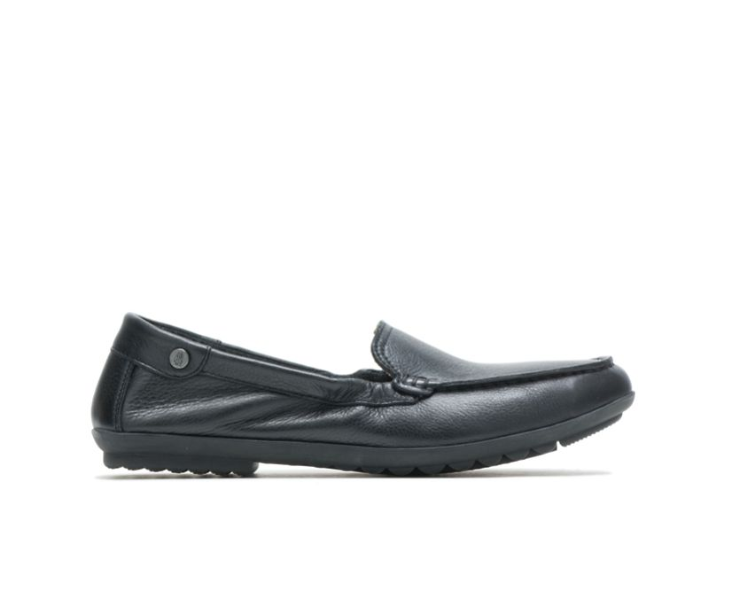 Aidi Mocc Slip-On, Black Leather, dynamic