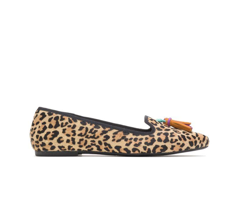Sadie Tassel Slip-On, Leopard Calf Hair, dynamic