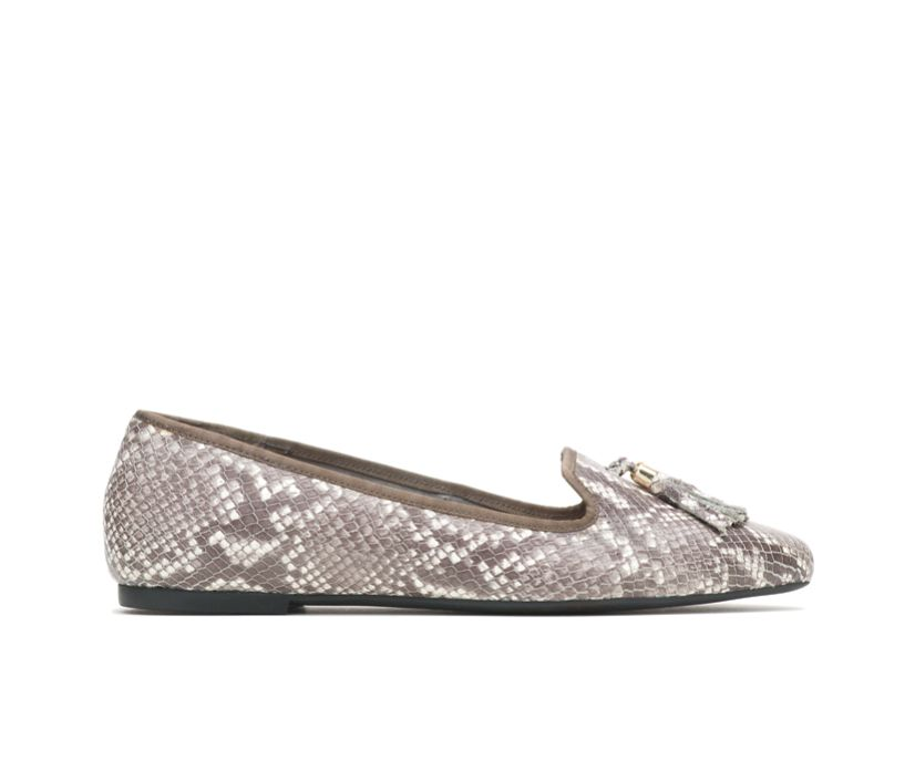 Sadie Tassel Slip-On, Natural Snake Leather, dynamic