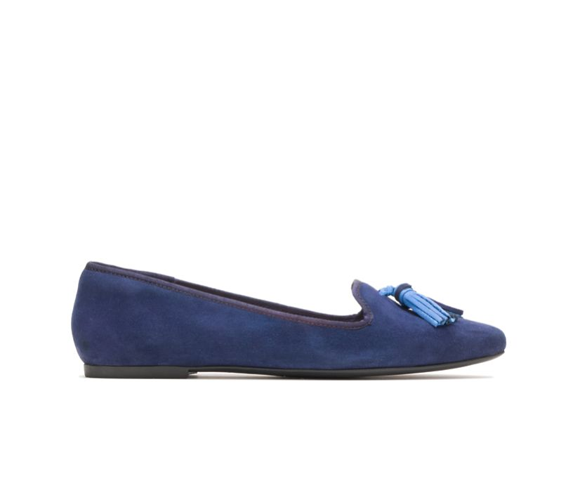 Sadie Tassel Slip-On, Royal Navy Suede, dynamic
