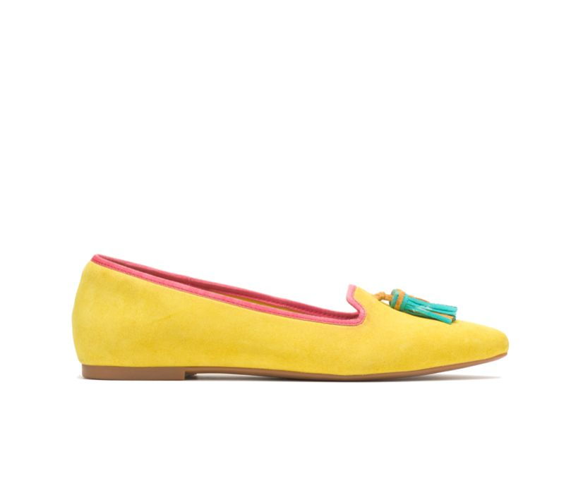 Sadie Tassel Slip-On, Sun Yellow Suede, dynamic