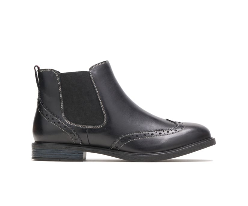 Bailey Chelsea Boot, Black Leather, dynamic