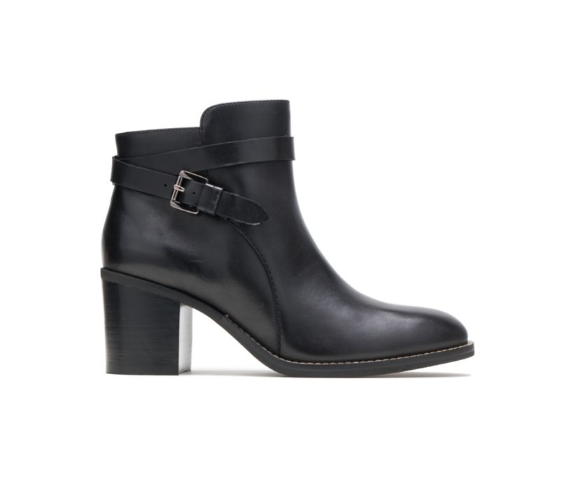 Hannah Strap Boot, Black Leather, dynamic
