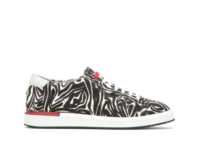 Sabine Sneaker, Zebra Calf Hair, dynamic