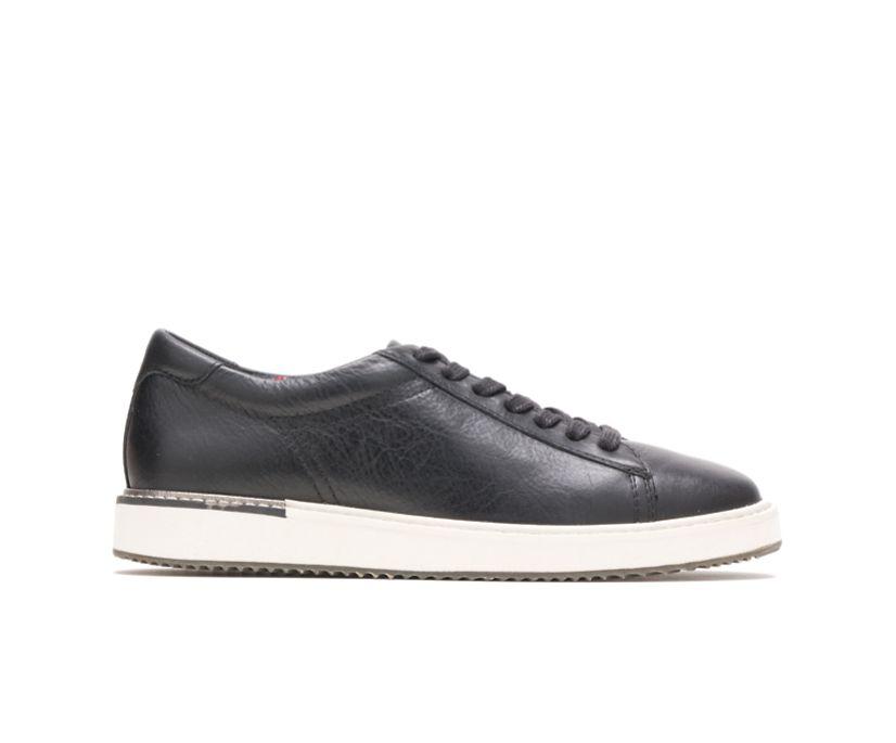 Sabine Sneaker, Black Leather, dynamic