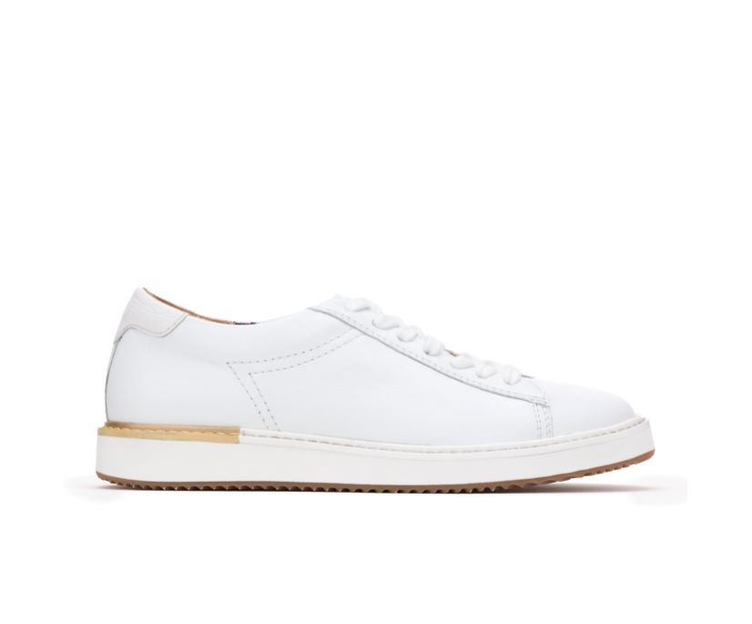 Sabine Sneaker, White Leather, dynamic