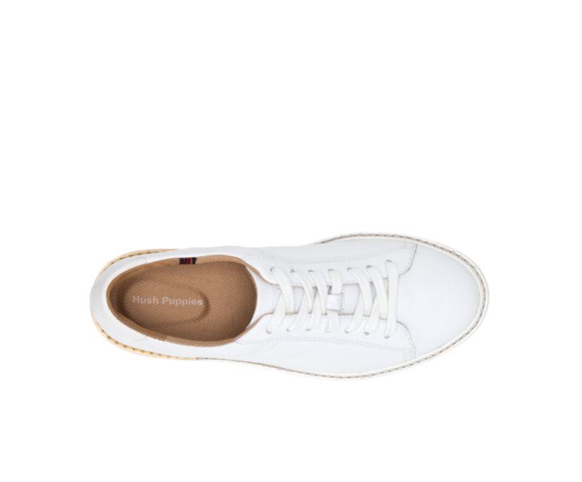 Sabine Sneaker, White Leather, dynamic