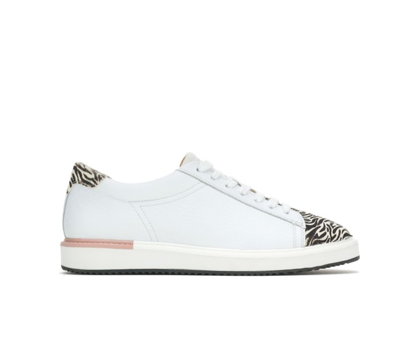 Sabine Sneaker, White Leather/Zebra, dynamic