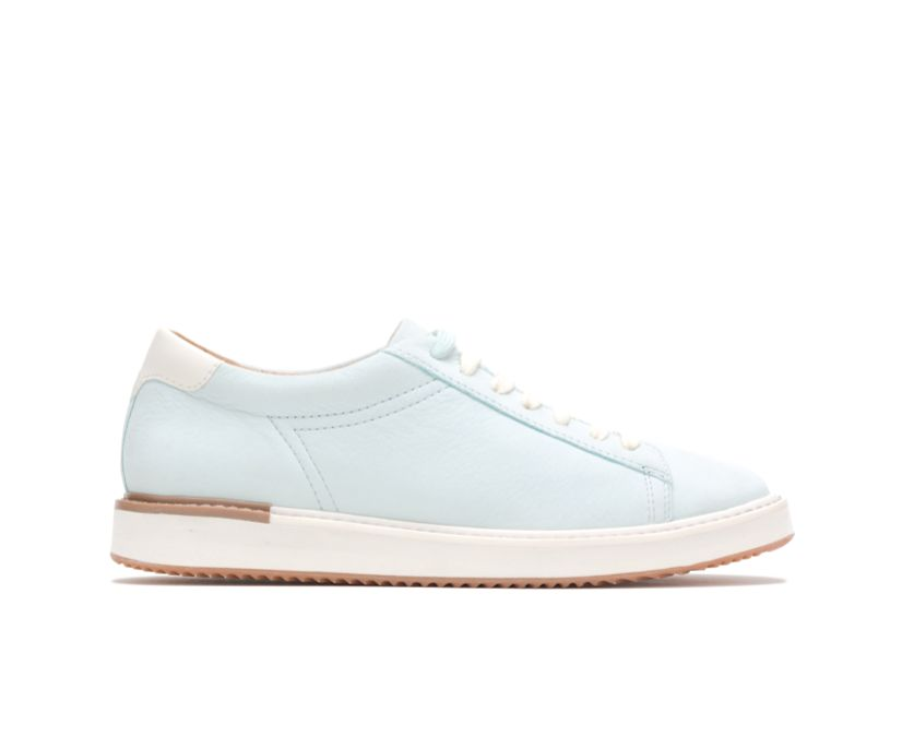 Sabine Sneaker, Pale Blue Leather, dynamic