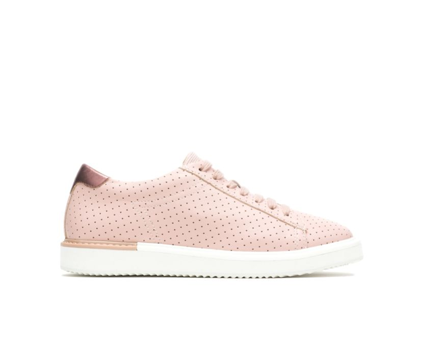 Sabine Sneaker, Pale Blush Perf Leather, dynamic