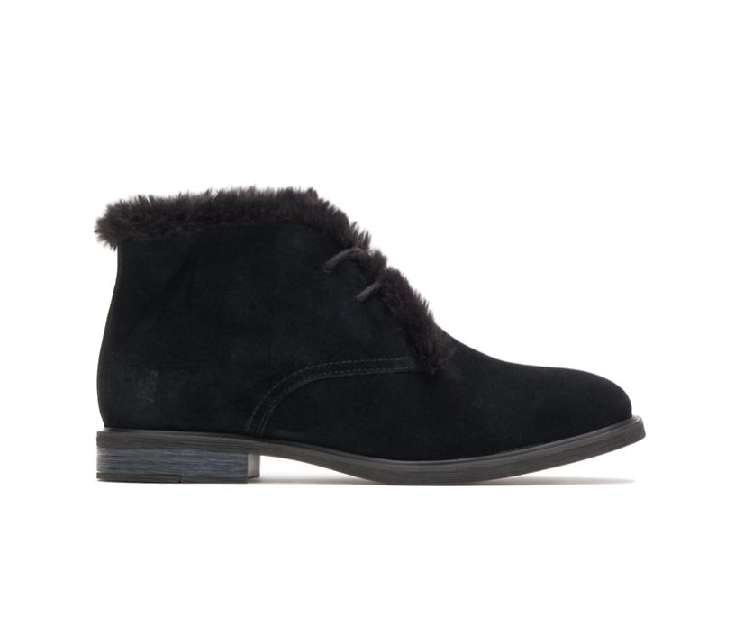 Bailey Fur Chukka, Black Suede, dynamic