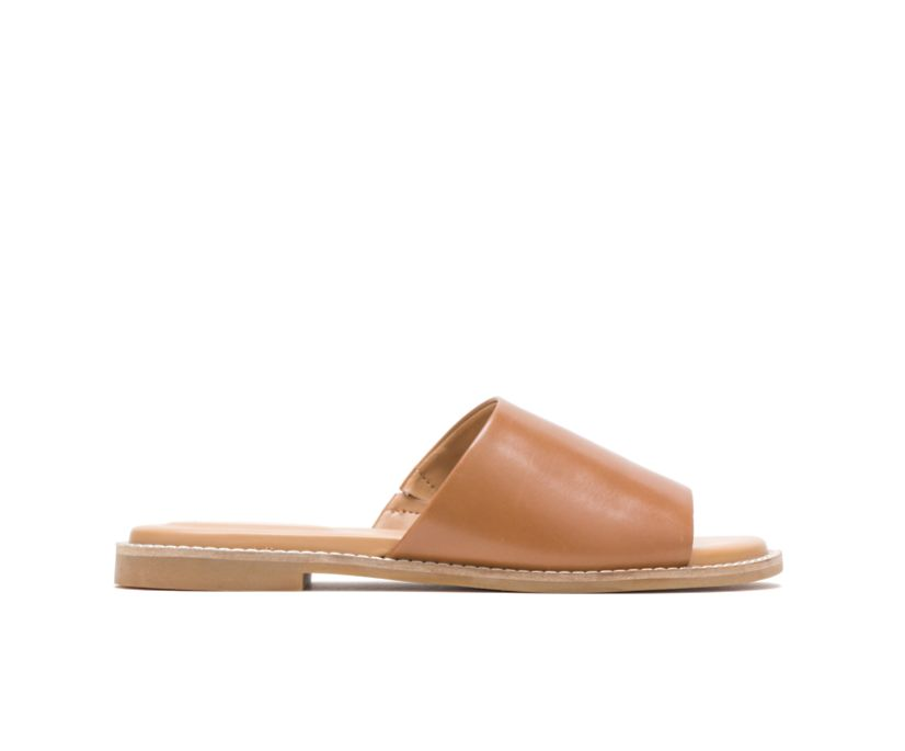 Lexi Slide, Tan Leather, dynamic