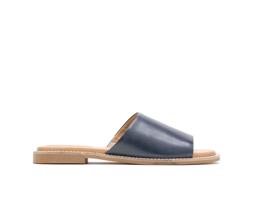Lexi Slide, Navy Leather, dynamic