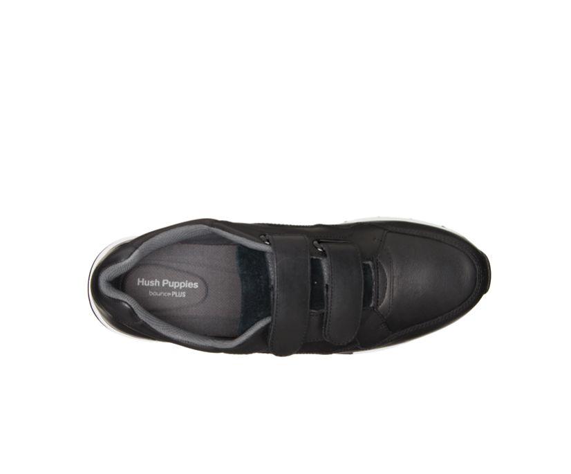Jenna 2Strap Jogger, Black Leather, dynamic