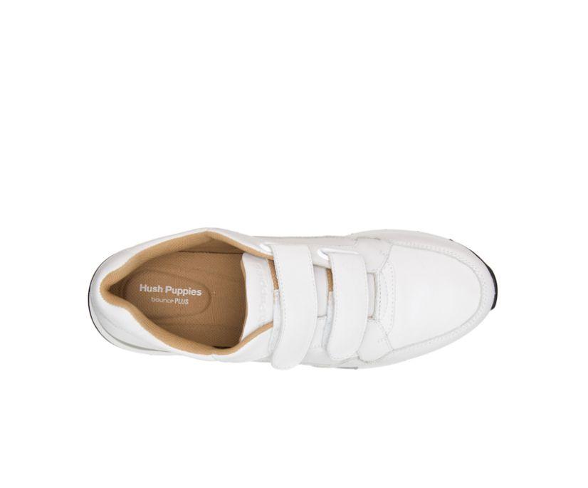 Jenna 2Strap Jogger, White Leather, dynamic