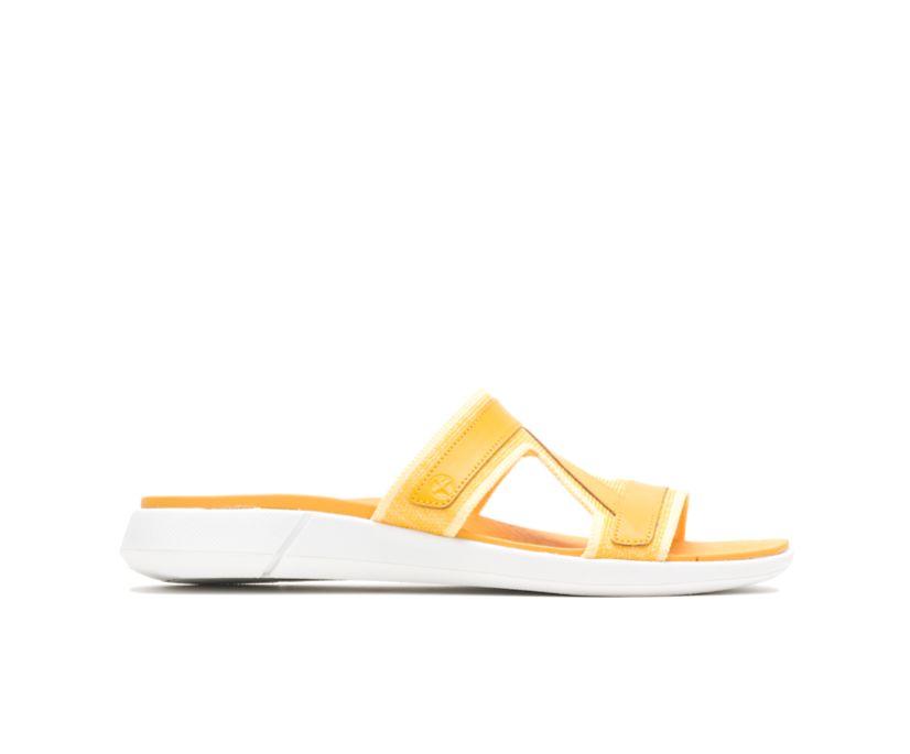 Willa Knit Slide, Goldenrod Leather, dynamic