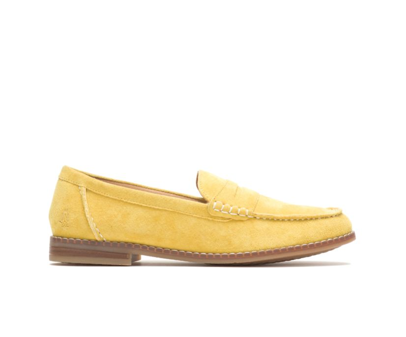 Wren Loafer, Lemon Curry Suede, dynamic
