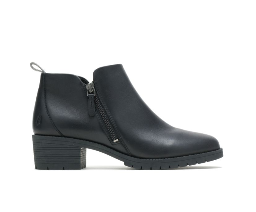 Hadley Side Zip Boot, Black Leather, dynamic