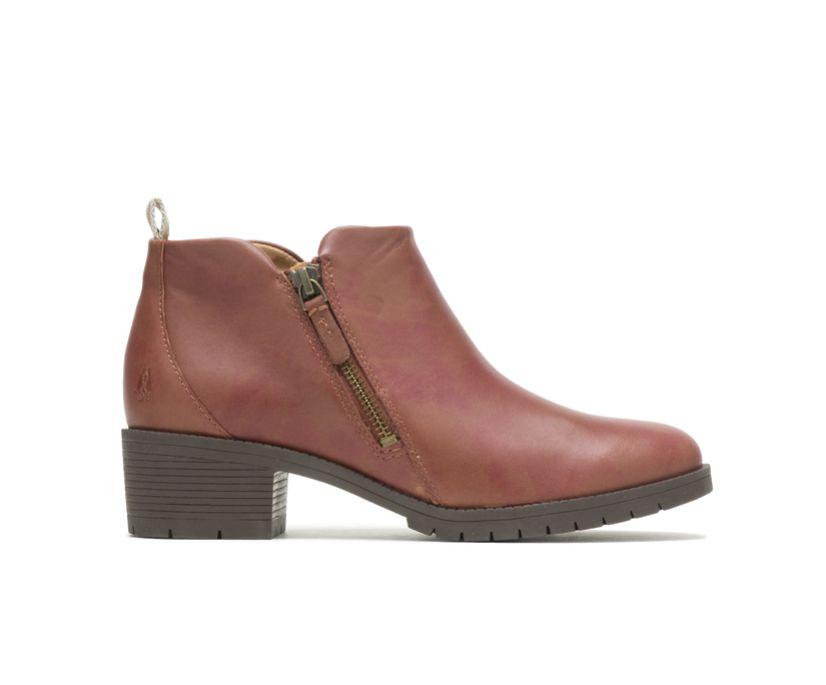 Hadley Side Zip Boot, Cognac Leather, dynamic