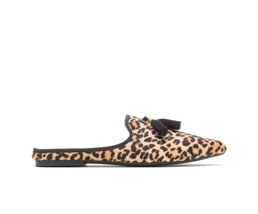 Sadie Tassel Mule, Leopard Calf Hair, dynamic