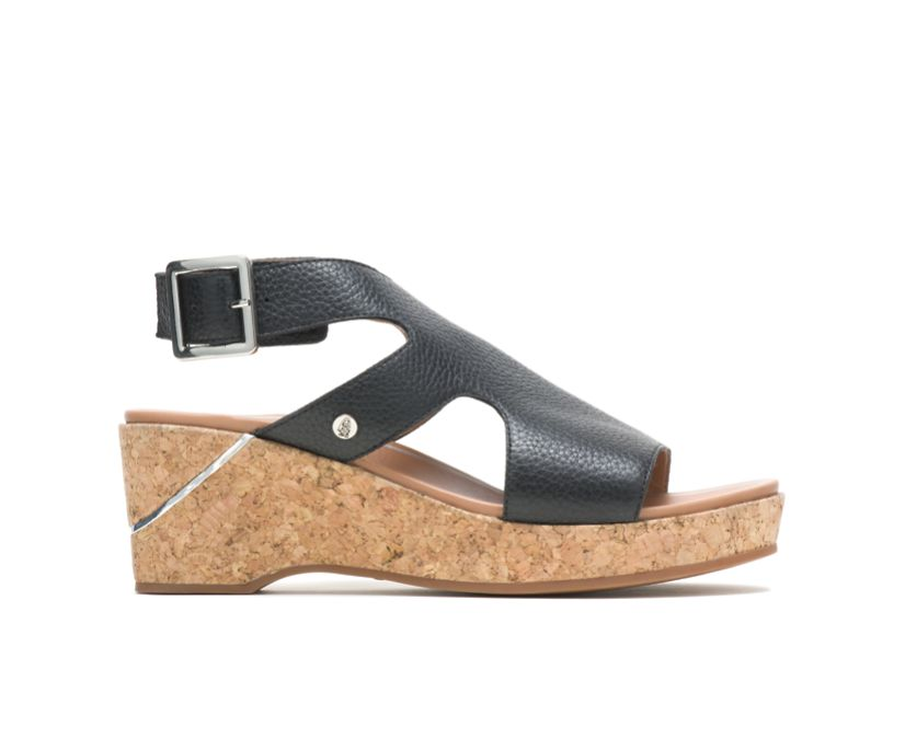 Maya Ankle Strap, Black Leather, dynamic
