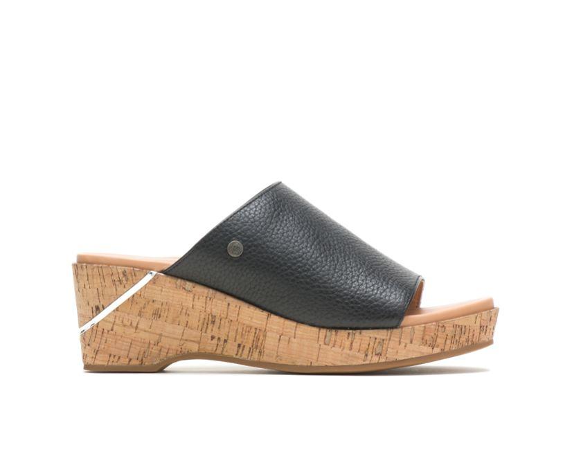 Maya Slide, Black Leather, dynamic