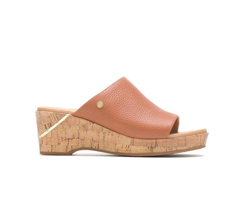 Maya Slide, Mid Brown Leather, dynamic