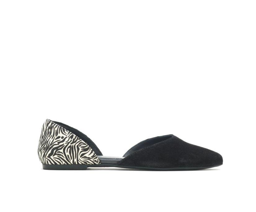 Sadie D'Orsay, Black Suede/Zebra, dynamic