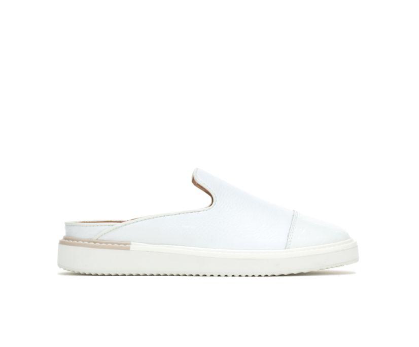 Sabine Mule, White Leather, dynamic