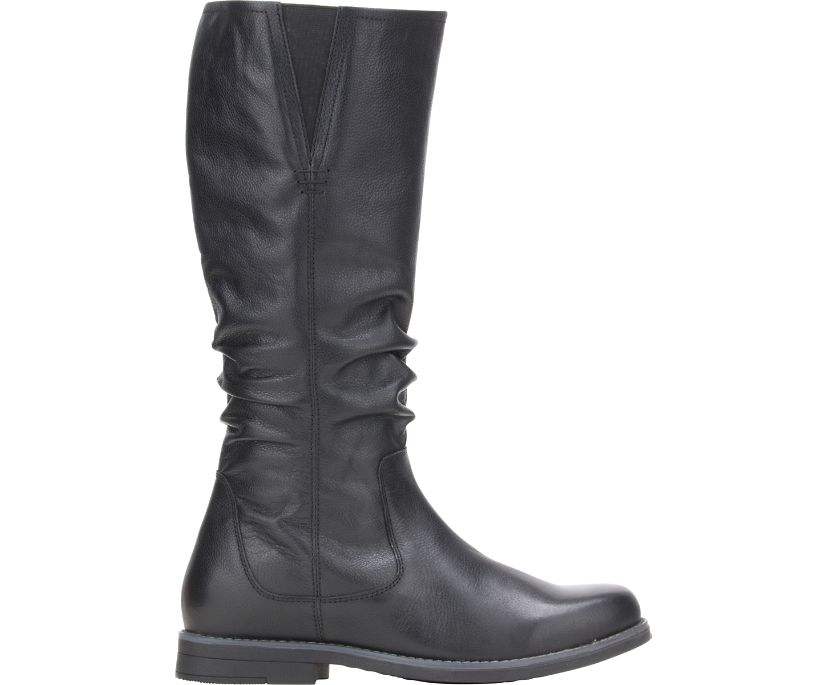 Caley Tall Scrunch, Black Leather, dynamic