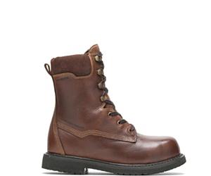 "Iron High Heat Metatarsal Guard Composite Toe 10"" Work Boot, Brown, dynamic"