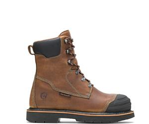 "Boulder High Heat Resistant Metatarsal Guard Alloy Toe 8"" Work Boot, Brown, dynamic"