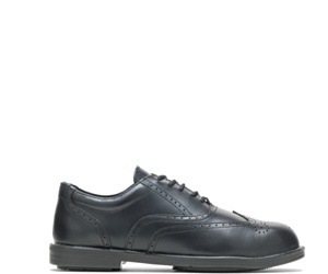 Hush Puppies® Professionals Steel Toe Wing Tip Shoe, Black, dynamic