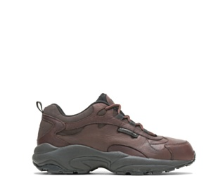 Holt Conductive Water Resistant Steel Toe Shoe, Brown, dynamic