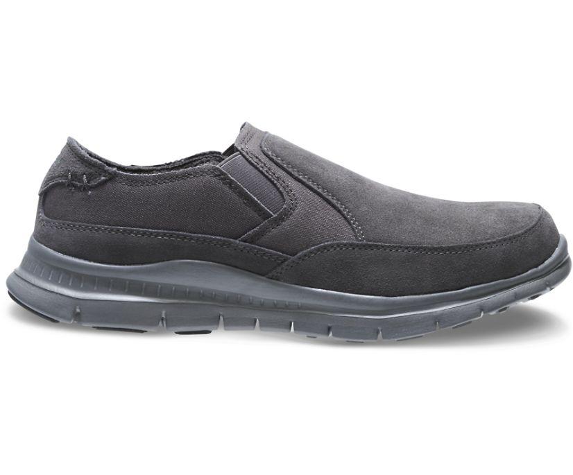 Men's Blake Steel Toe Slip On, Grey, dynamic