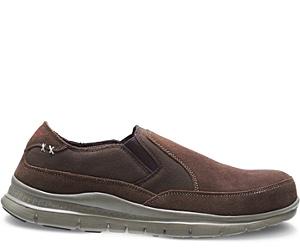 Men's Blake Steel Toe Slip On, Brown, dynamic