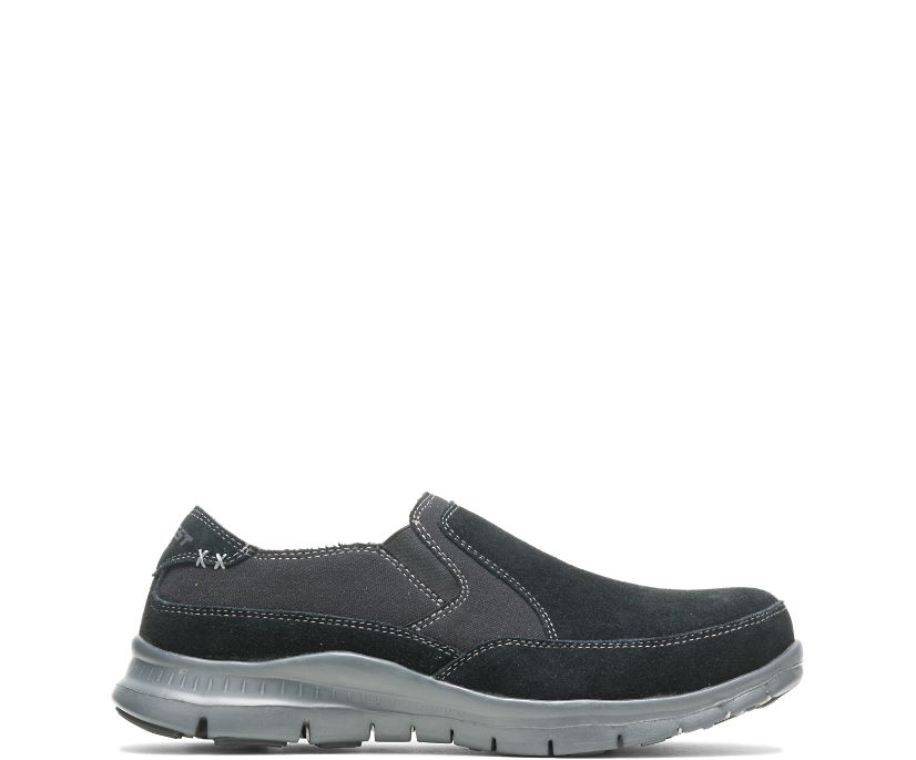 Men's Blake Steel Toe Slip On, Black, dynamic