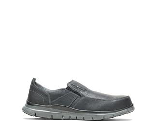 Porter Steel Toe Slip On, Black, dynamic