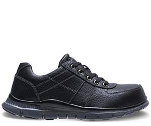 Porter Steel Toe Shoe, Black, dynamic