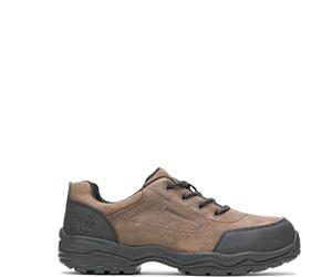 Avery Conductive Steel Toe Shoe, Brown, dynamic