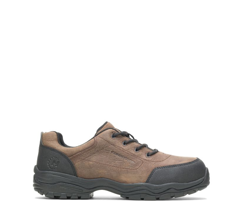 Avery Conductive Steel Toe Shoe, Brown, dynamic