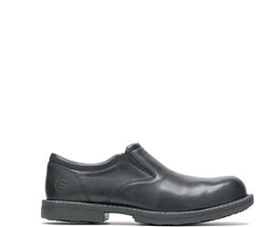 Bradford Steel Toe Slip On, Black, dynamic